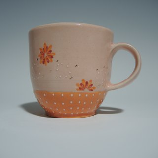 Flower Show Series: Pink Orange Petal Cup