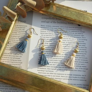 *coucoubird*Two-tone vintage rope tassel earrings