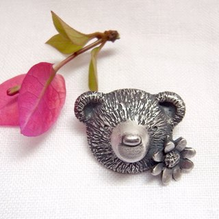 Ladybug & Tiny FLower &Teddy Bear--Sterling Silver----Pendant Necklace