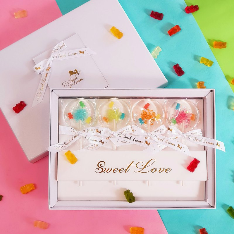 Handmade Crystal Sugar Gift Box - Gummy Bears (Additional Bags)