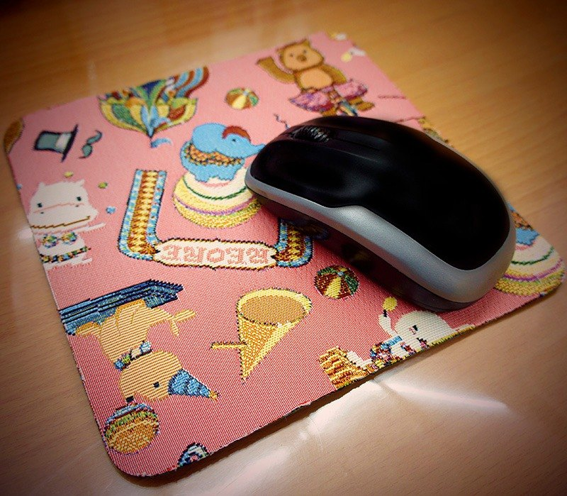 REORE happy circus texture painting mouse pad pink jacquard