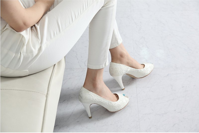 Lace high heels wedding shoes SHO-913