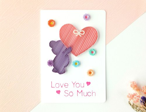 Hand made decorative cards- love you so much