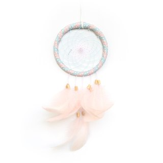 Dream Catcher 10cm Water Jade Dot Pink Two-tone (Tanning Style Series) - Exchange Gifts