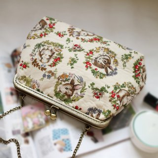 White Forest Rabbit Cross Body Bag L size| Girlskioku~*