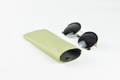 Glasses Case, Glasses Holder, Phone Case, Green Pattern, Magnet Button