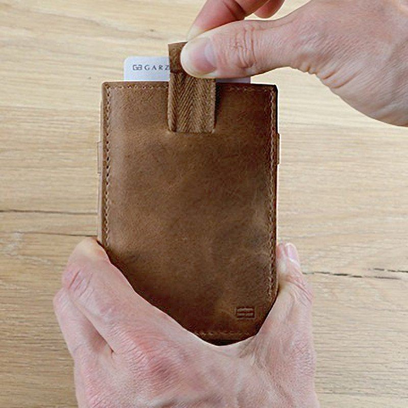 Folding wallet / real cowhide / extract / dark brown