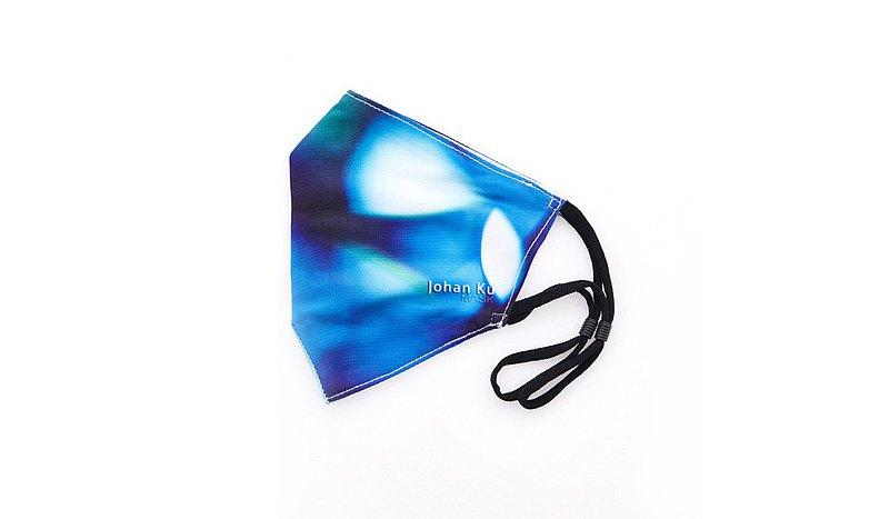 Johan Ku Mask - 003_The Vision Blue_01- 蠶絲內裡布口罩/口罩套