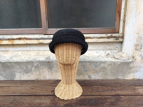 Chokdee-muakdeedee!|hollow-rolled straw hat black grass autumn new color simple and good texture
