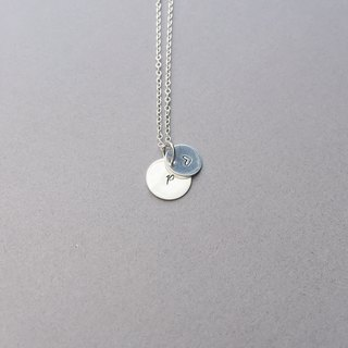 hush / customizable silver necklace with letter