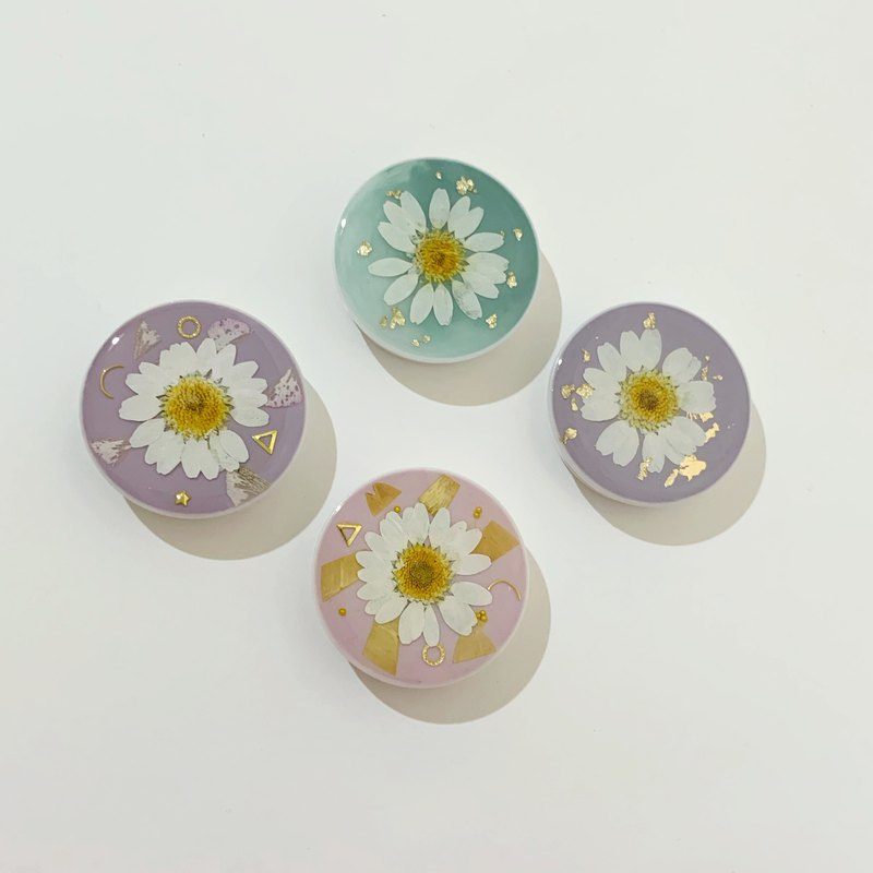 Dry flower mobile phone cushion stand small daisy