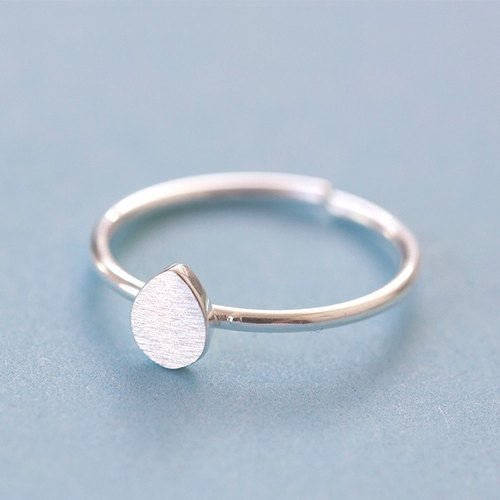 Drop Ring in 925 Sterling Silver - Free Size