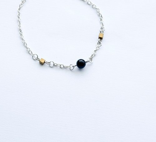 Beautiful ♥ bracelet / necklace four-color crystal brass shellfish color silver chain