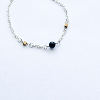 Beautiful Bracelet / Necklace Four-Color Crystal Brass Shell Beads Preservation Silver Chain