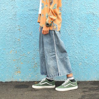 Maverick Village handmade wild retro cowboy [Imitation vine wide pants] C-04