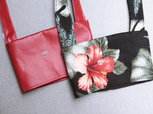 Valentine's Day 1+1 Couple Gift Eco Bag Night Rainforest Cavalier Red Leather