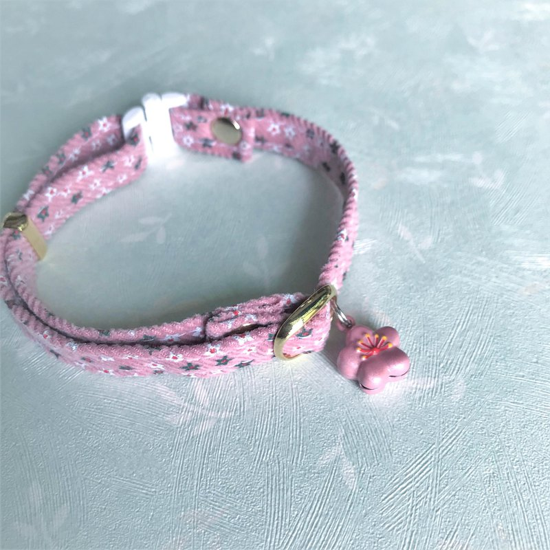 Pet Comfort Safety Collar Safety Buckle Collar (Cat Collar/Dog Collar)--Pink Flower