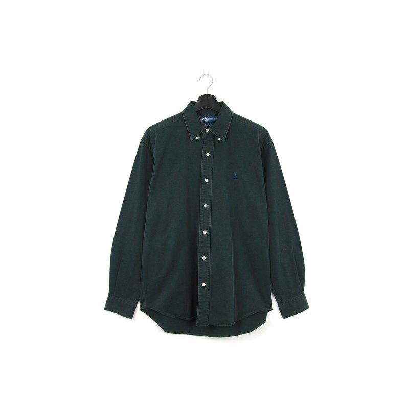 Back to Green :: Polo Ralph Lauren Black // vintage shirt