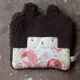 Doll Bunny Purse - Cocoa Hair - Red Flower - 2018034
