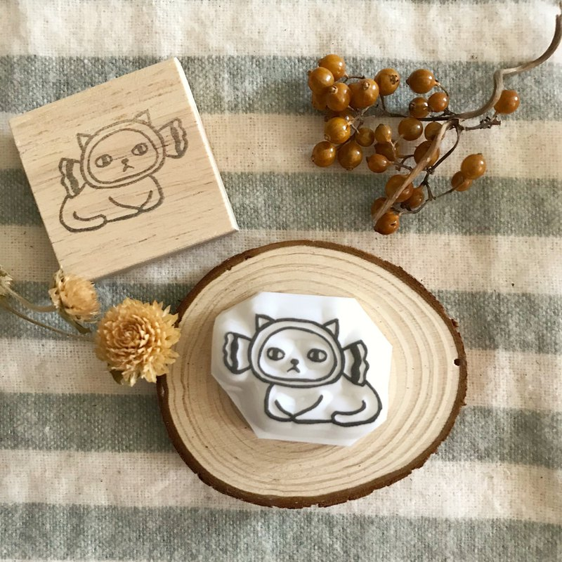 Hand Made Rubber Stamp Head Cover Cat Series-Candy