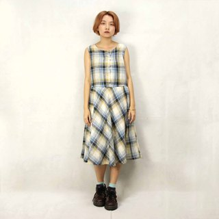 Tsubasa.Y Ancient House 012 Daily Plaid Vintage Dress, Dress Skirt Dress