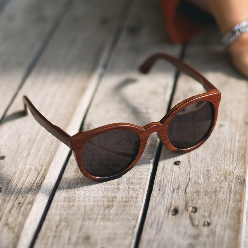 6HR / Rose Wood , Handmade Wooden Sunglasses
