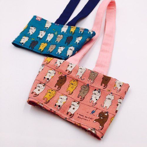 Clothes cat cats beverage bag double-sided use of environmental protection bags
