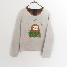 Hello Sloth / Sweater / Light Brown