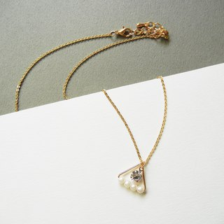 *coucoubird*rice pearl zircon necklace