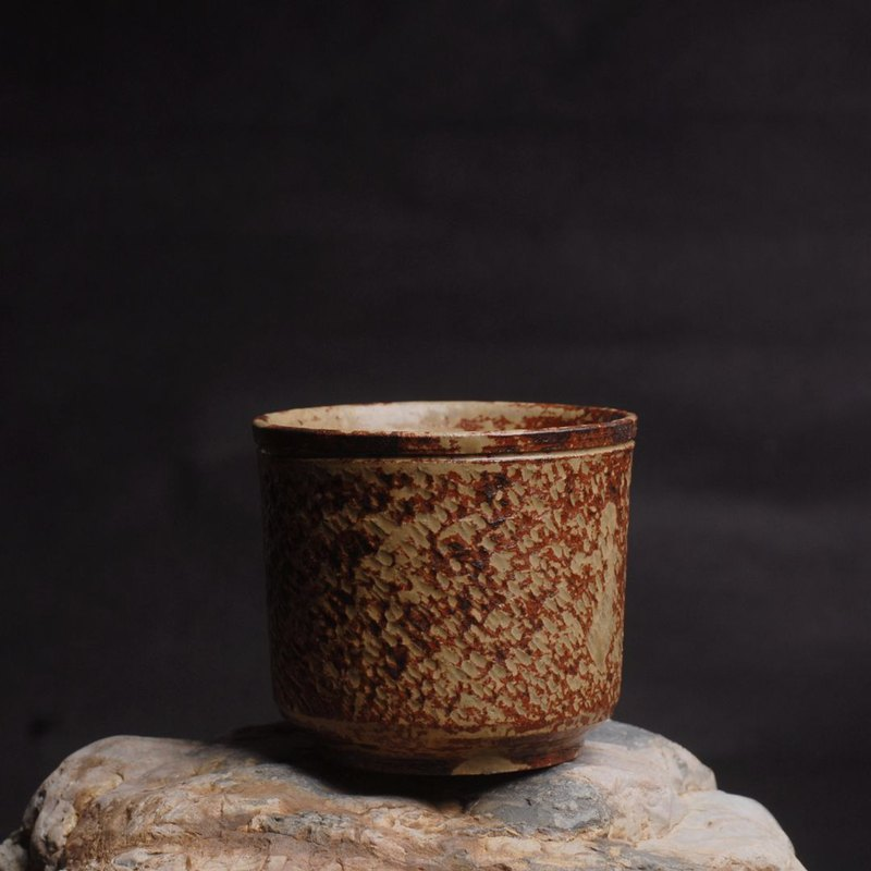 Handmade blank hand-made blank grass ash glaze kiln thick stone tea cup tea ceremony master cup