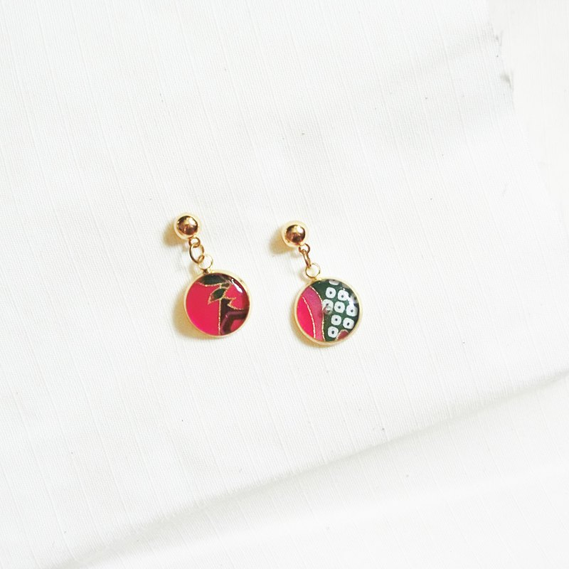 red series washi earrings #002