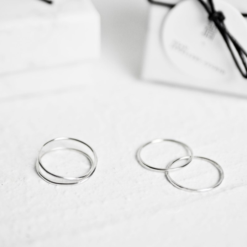 Minimalist track. Fine silver ring Optional two 88% off Classic Ring 1 + 1 Goody Bag