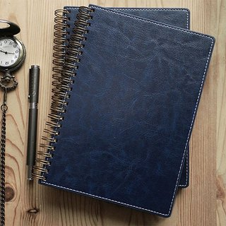 Spiral Planner-PU leather-Blue