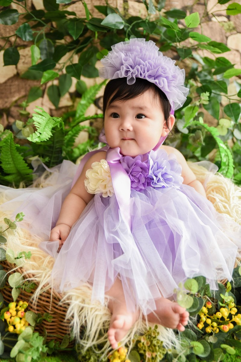 Princess Peng Peng skirt dress DIY material bag birthday catch saliva party flower girl 0-8Y pink / purple
