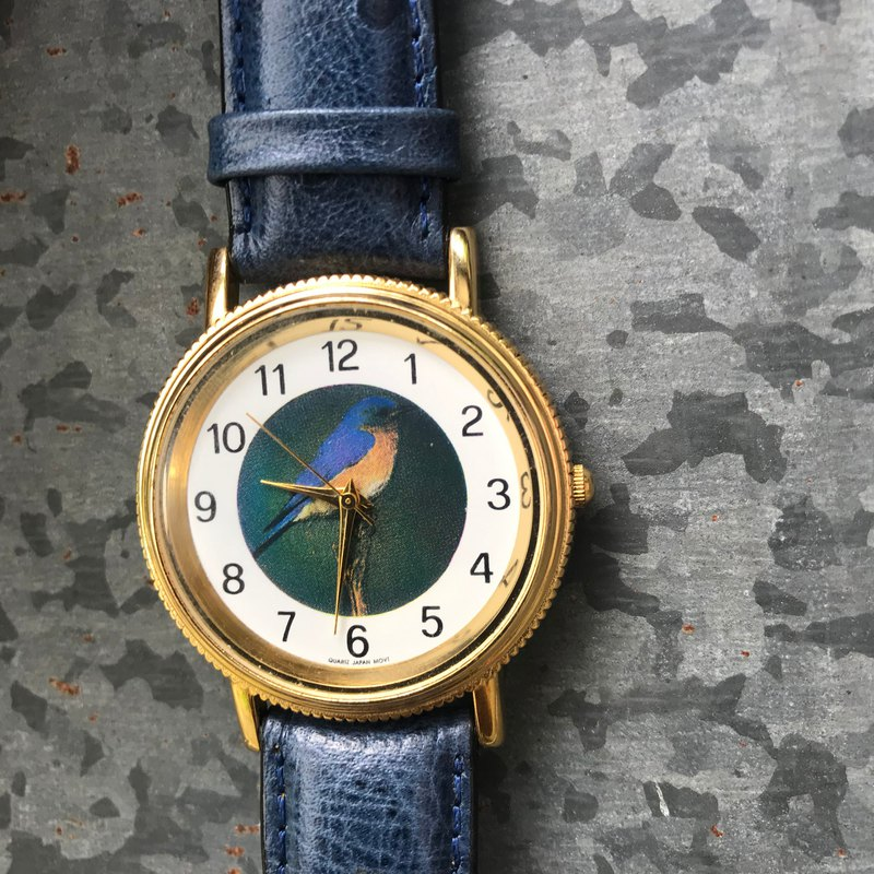 [Lost and find] old animal bird blue ostrich watch
