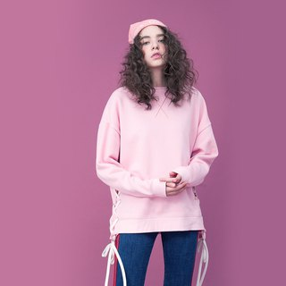 UNISEX LACE-UP SIDE SWEATSHIRT
