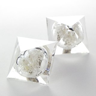 Pyramid dome earrings (Botanical Garden A)