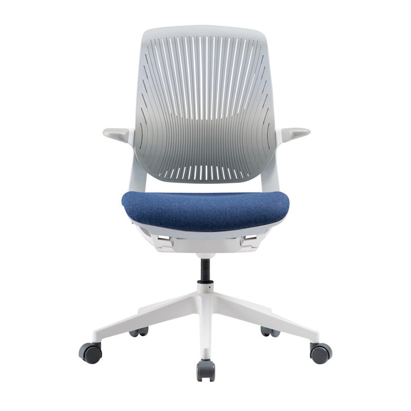 Iloom _Oliver plastic ergonomic (rotary) computer chair (blue) * send storage blanket