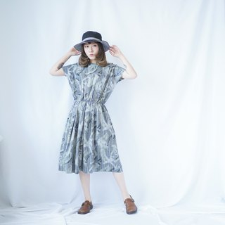 Ancient II Japanese II Ancient Graffiti Wind Cotton Dress II