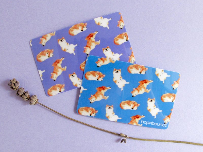 Kelly Shiba Inu Card Sticker in Purple