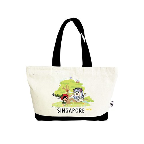 Ang Ku Kueh Girl X Merlion Series: Tote Bag (Garden City) 狮城鱼尾狮单肩包