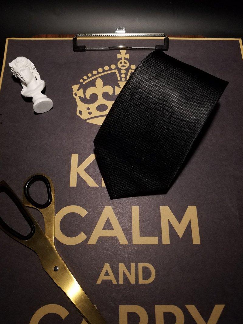 黑色真絲領帶正裝商務暗紋領帶