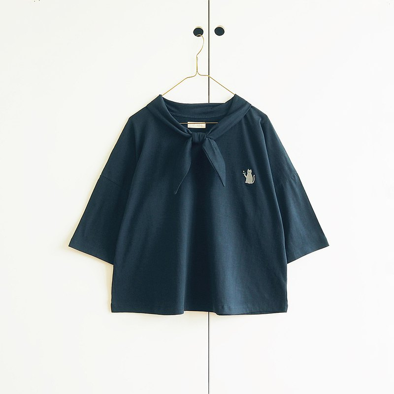 sailor collar t-shirt : natural