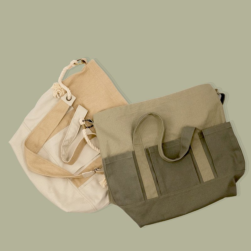 3way large opening canvas bag