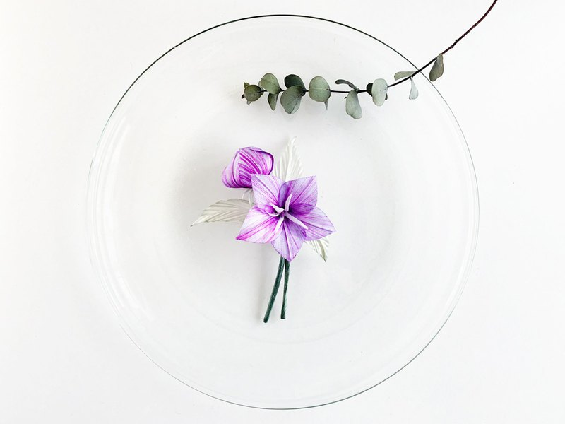 Corsage: Chinese bellflower (flower and bud)