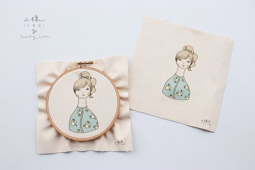 Trista Courtesy Illustration Embroidered Material Bag