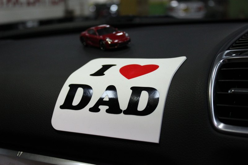 Love 2 love Silicone signs-- I LOVE DAD