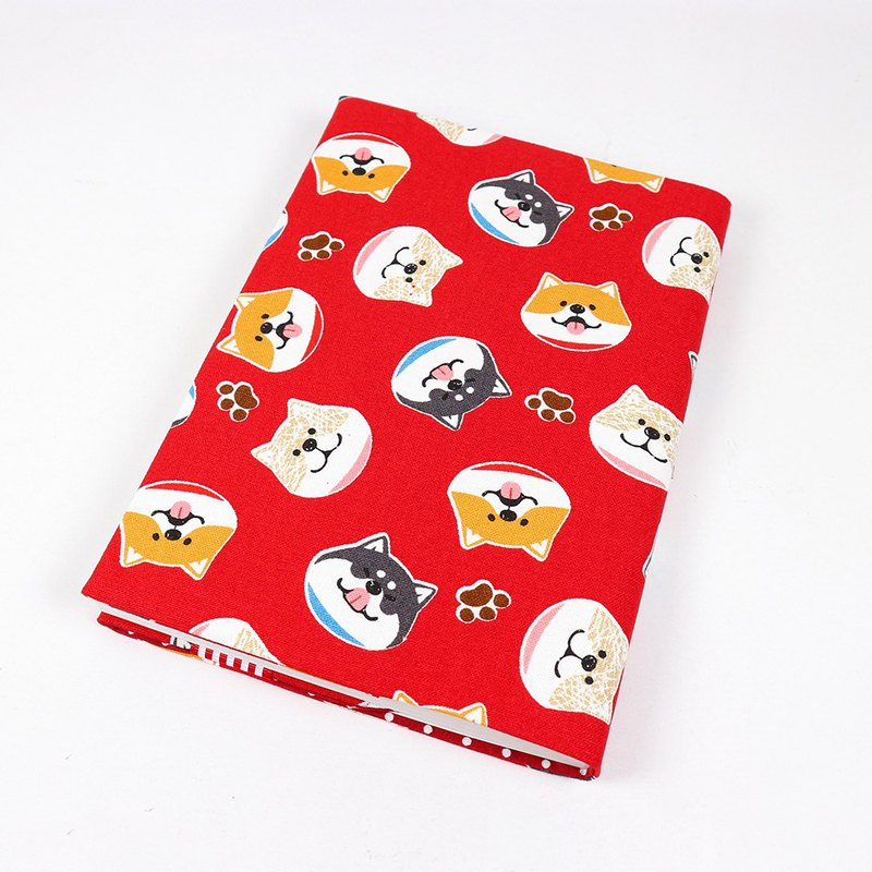 A5 Cloth book cover mother book cloth book cover book - circle Shiba Inu (red)