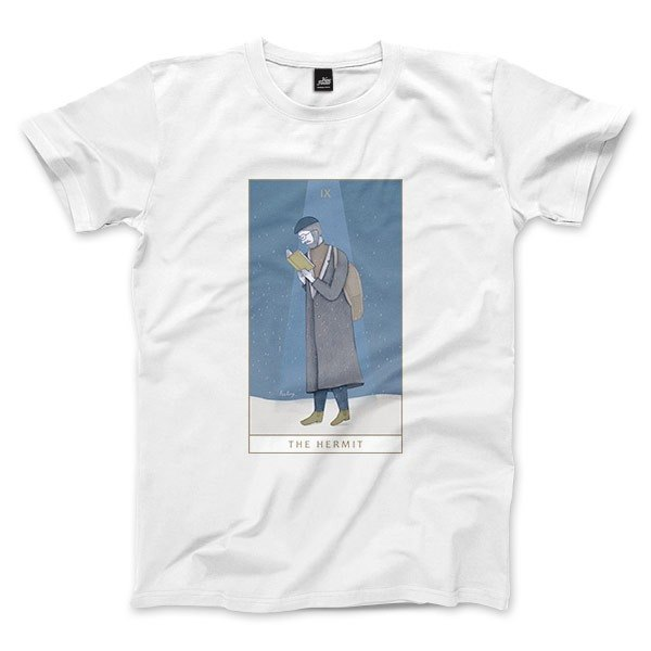 IX | The Hermit - White - Unisex T-Shirt