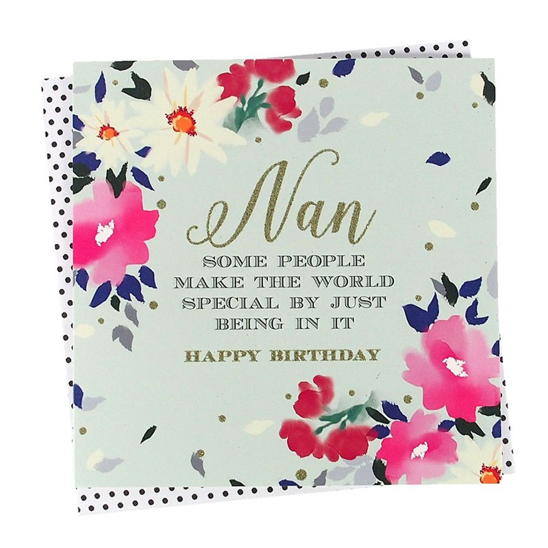 Grandma's birthday world has become more special [Clare Maddicott INK Card - Birthday Blessing]